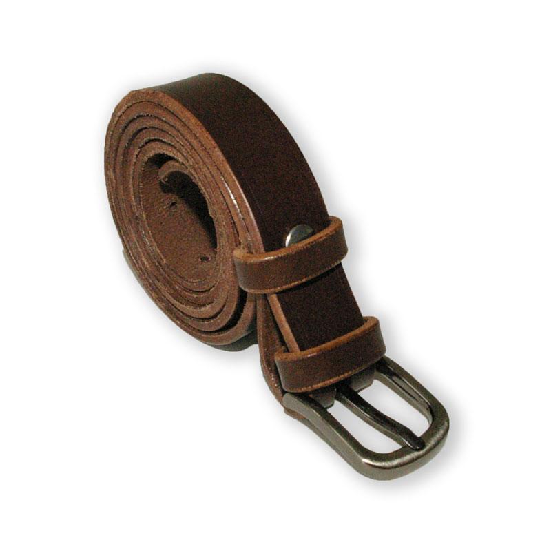 Image de la ceinture cuir marron brun de 25 mm de large