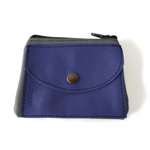 Visuel du porte-monnaie duo poche bleu jean