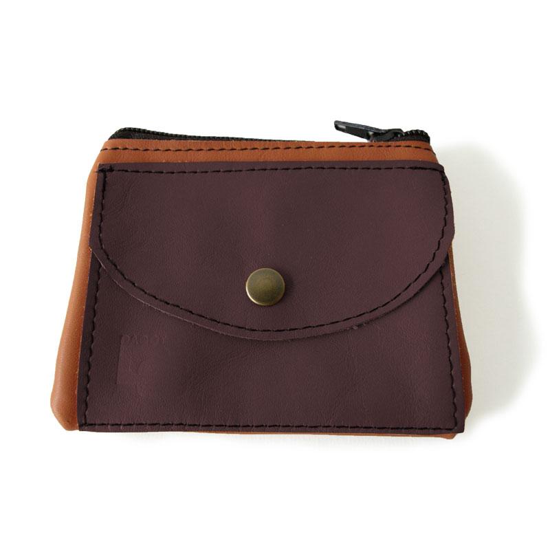 Visuel du porte-monnaie duo poche marron brun