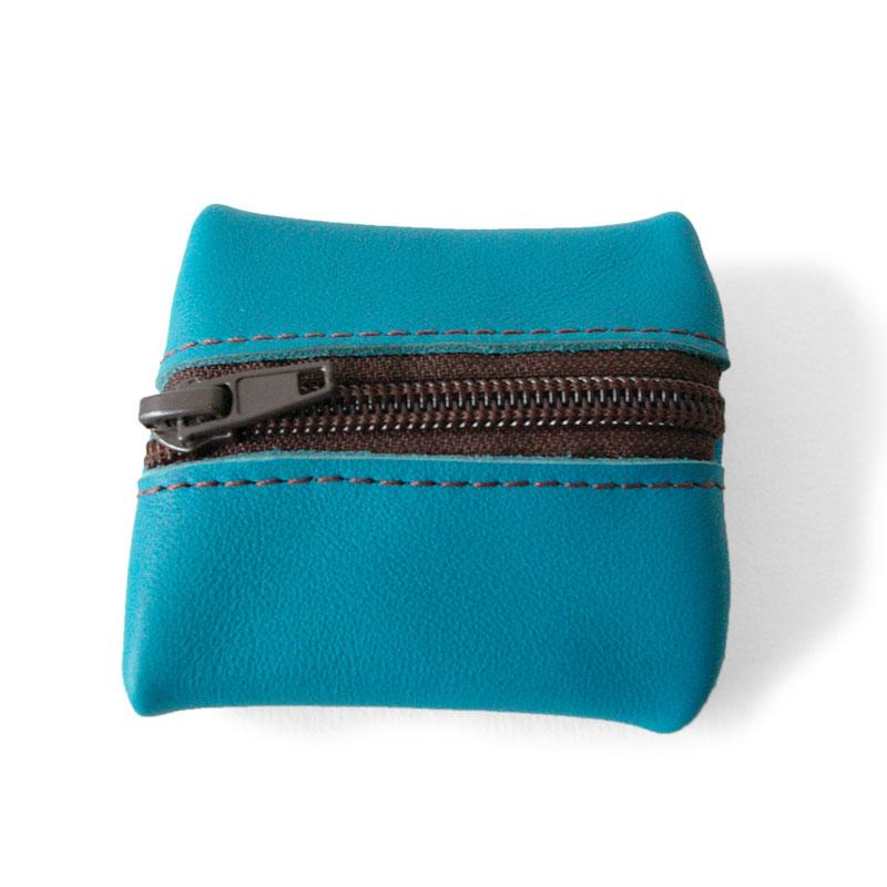 Visuel du porte-monnaie mini-zip bleu jean