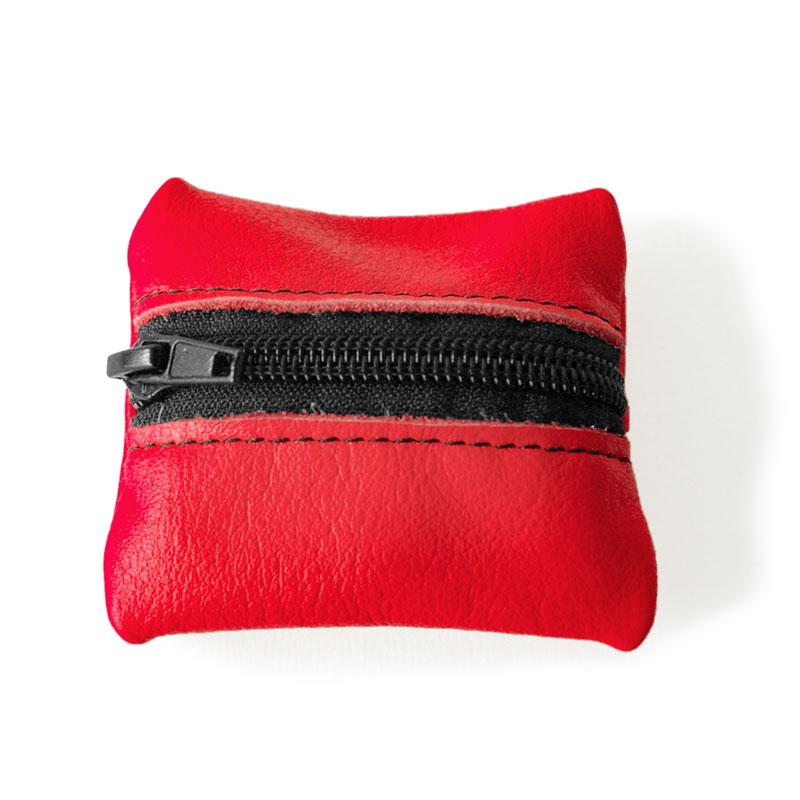 Visuel du porte-monnaie mini-zip rouge grenade