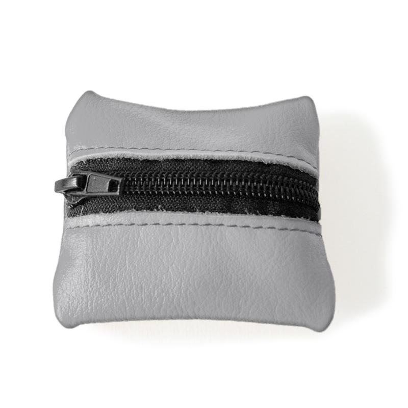 Visuel du porte-monnaie mini-zip gris