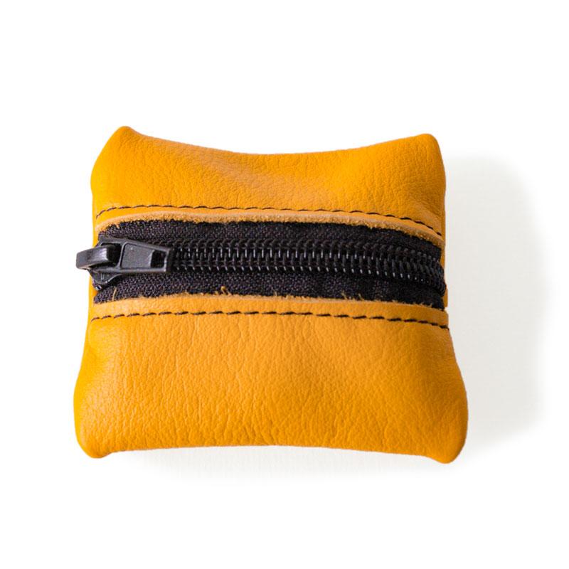 Visuel du porte-monnaie mini-zip jaune