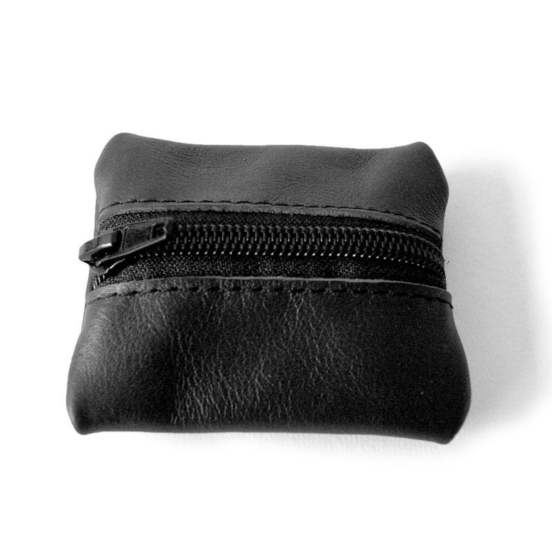 Visuel du porte-monnaie mini-zip noir