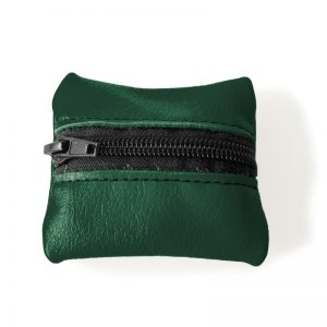 Visuel du porte-monnaie mini-zip vert sapin