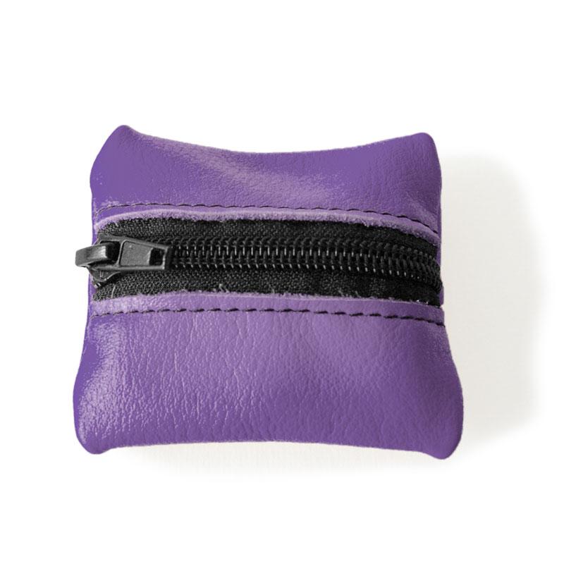 Visuel du porte-monnaie mini-zip violet améthyste