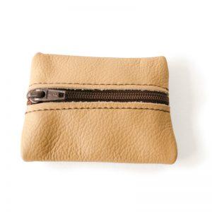 Visuel du porte-monnaie mini-zip beige coquille