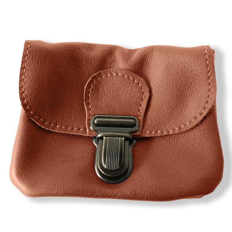 Aperçu du porte monnaie ceinture marron camel