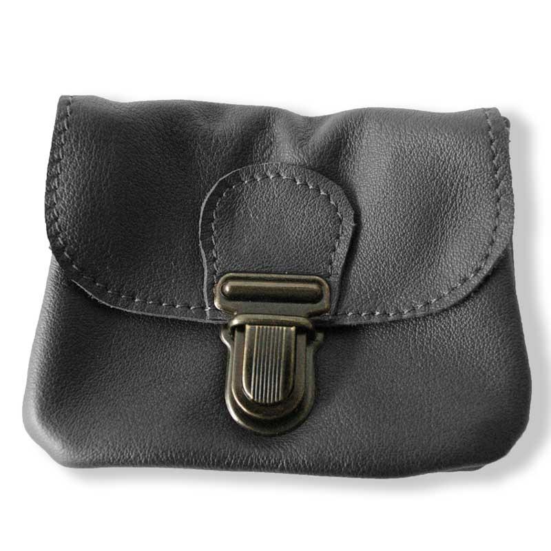 Aperçu du porte monnaie ceinture marron noir