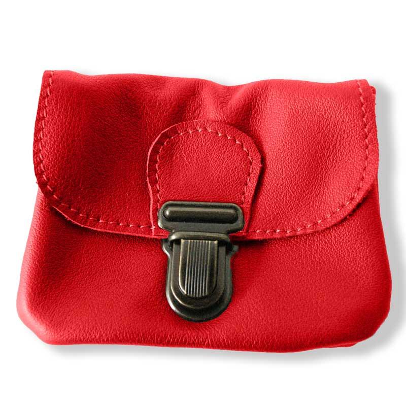 Aperçu du porte monnaie ceinture rouge grenade