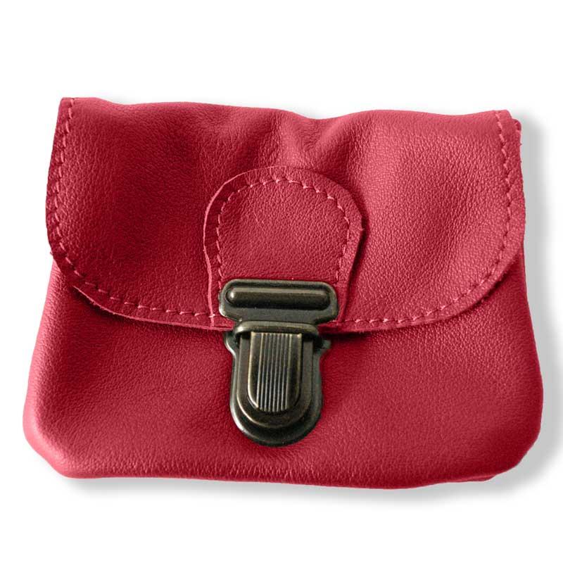 Aperçu du porte monnaie ceinture rouge groseille