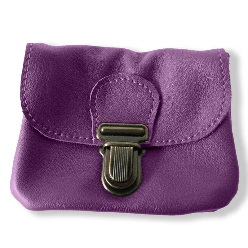 Aperçu du porte monnaie ceinture violet améthyste