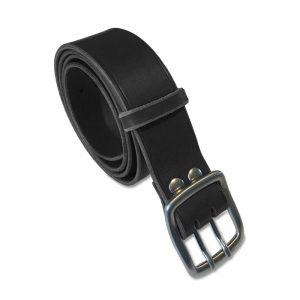 Image de la ceinture cuir noire double ardillon de 40 mm de large