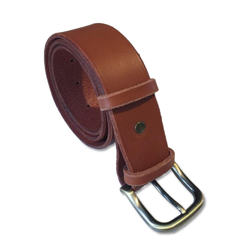 Image de la ceinture cuir camel de 40 mm de large