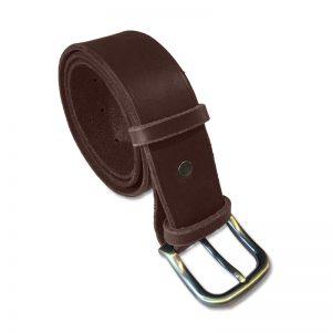 Image de la ceinture cuir marron de 40 mm de large