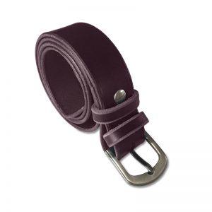 Image de la ceinture cuir marron café