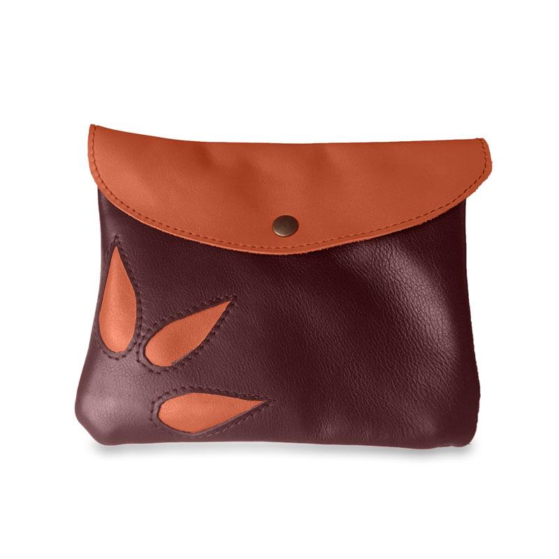 Image du sac pochette magique en cuir marron