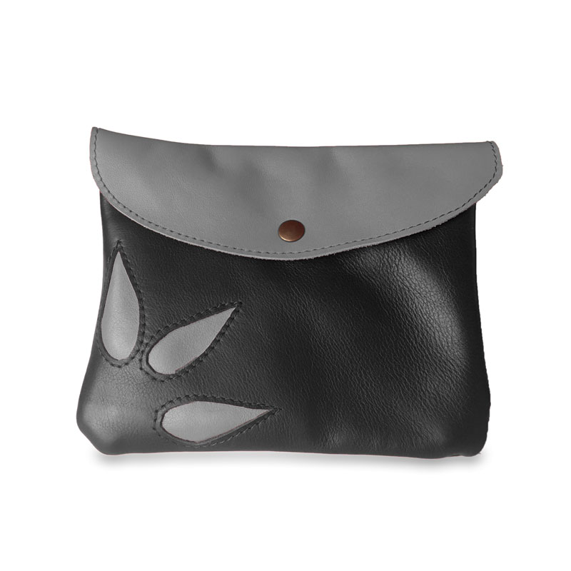 Image du sac pochette magique en cuir noir
