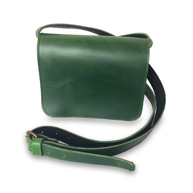 Image de la petite sacoche femme catimini soft verte