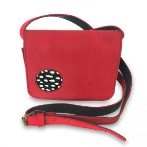 Illustration de la petite sacoche femme Catimini rouge