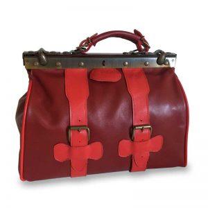 photo du sac en cuir Mary poppins rouge