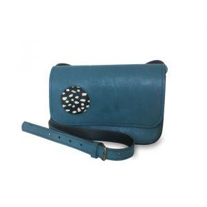 Visuel du sac catimoyen en cuir bleu